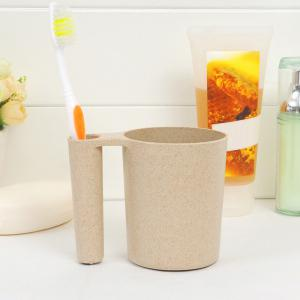 Wheat Straw Tooth Mug Wash Gargle Toothbrush Cup -