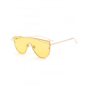 Shield Sunglasses with Metallic Long Crossbar