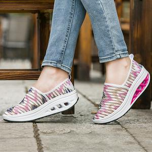 Print Slip On Sheer Sneakers -