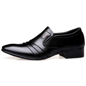 Pointed Toe Pleated Formal Shoes - BLACK 44