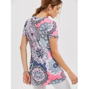 Floral Knotted T-Shirt - COLORMIX M