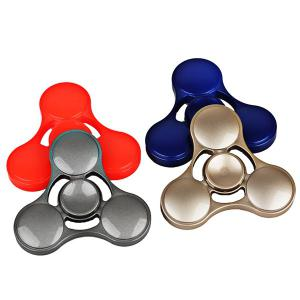 Plastic Cool Stress Relief Toy Hand Fidget Spinner - GOLDEN
