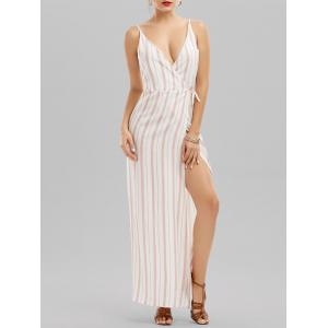 Cami Striped Backless Long Kimono Wrap Beach Dress