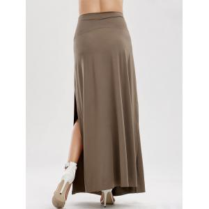 Side Slit Longline Skirt -
