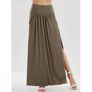 Side Slit Longline Skirt
