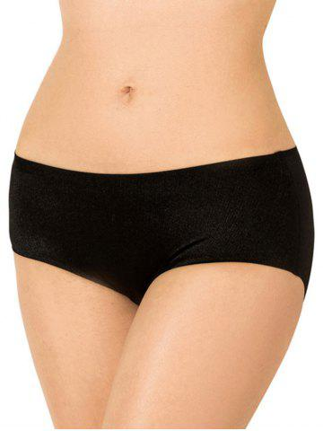 Buy Full Coverage Plus Size Briefs Panties - XL BLACK Mobile
