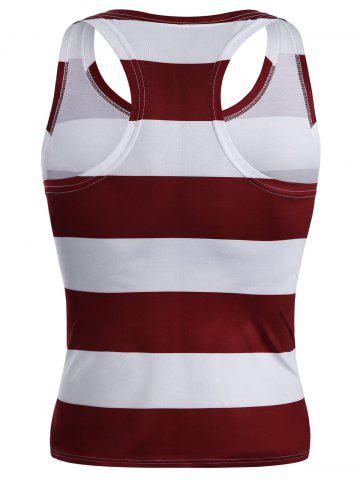 Fashion American Flag Patriotic Muscle Tank Top - 2XL COLORMIX Mobile