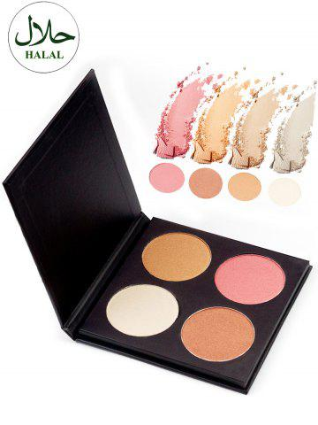 Outfit Halal 4 Colors Soft Mineral Highlighting Palette COLORFUL