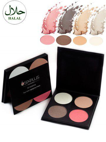 Shops Halal 4 Colors Highlighting Powder Palette COLORFUL