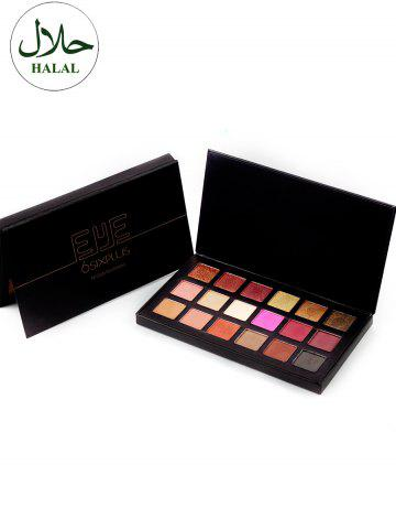 Shop Halal 18 Colours Matte Shimmer Powder Eyeshadow Palette - COLORFUL  Mobile