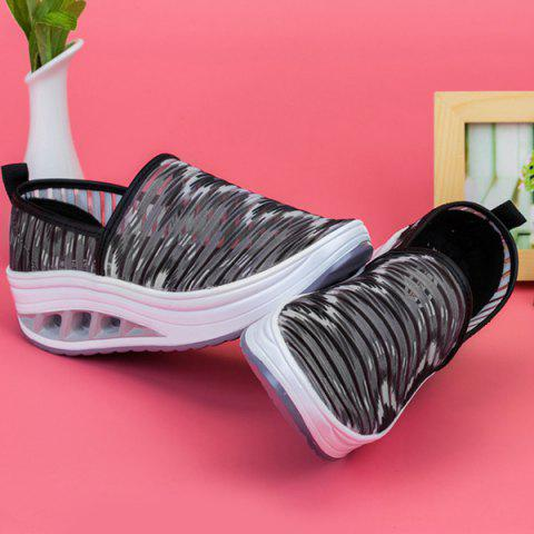 Trendy Print Slip On Sheer Sneakers - 38 BLACK Mobile