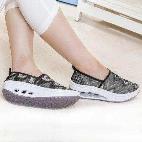 Chic Print Slip On Sheer Sneakers - 38 BLACK Mobile