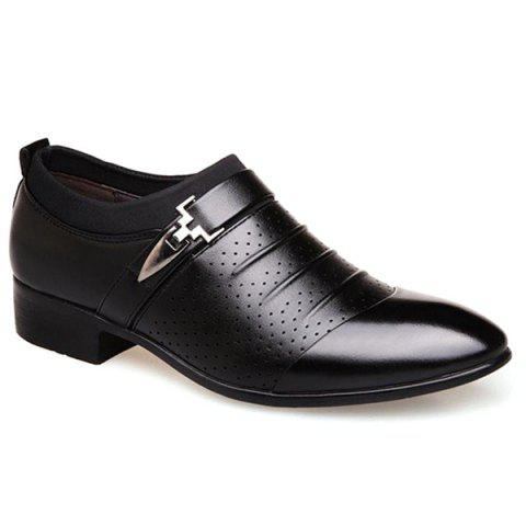 Affordable Pleated Breathable Formal Shoes - 43 BLACK Mobile