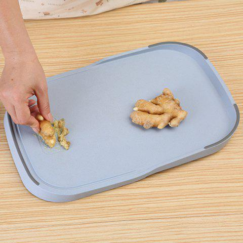 Sale Wheat Straw Vegetables Food Material Cutting Board - BLUE  Mobile