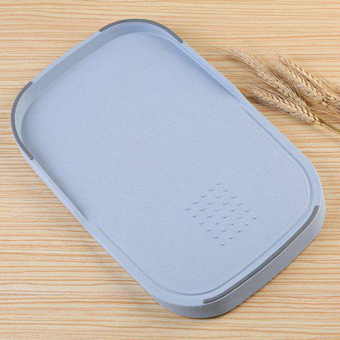 Shops Wheat Straw Vegetables Food Material Cutting Board - BLUE  Mobile