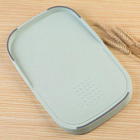 Shops Wheat Straw Vegetables Food Material Cutting Board - GREEN  Mobile