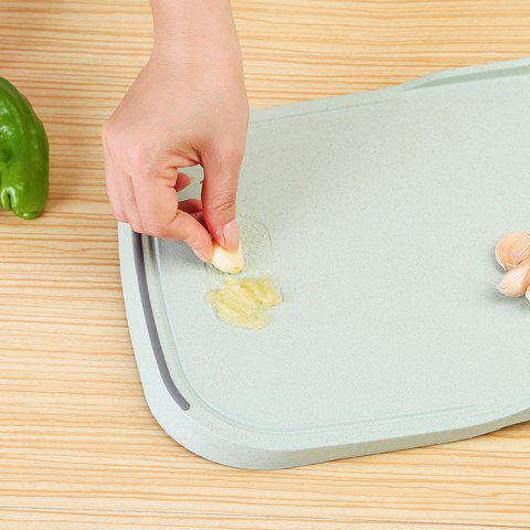 Chic Wheat Straw Vegetables Food Material Cutting Board - GREEN  Mobile