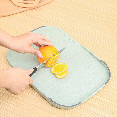 Sale Wheat Straw Vegetables Food Material Cutting Board - GREEN  Mobile