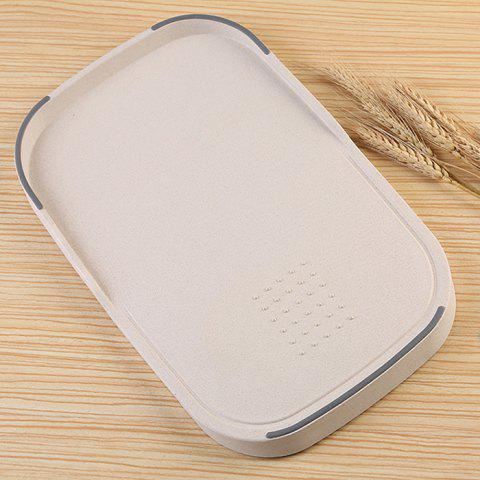 Chic Wheat Straw Vegetables Food Material Cutting Board - BEIGE  Mobile