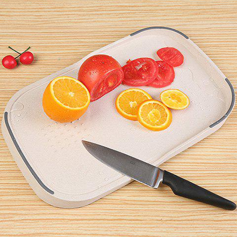 Store Wheat Straw Vegetables Food Material Cutting Board - BEIGE  Mobile