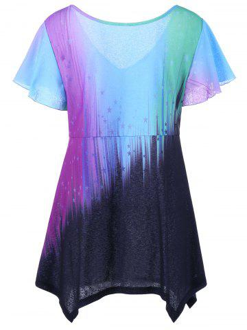 Fashion Ombre Plus Size Top - 2XL COLORMIX Mobile