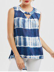 High Low Tie Dye Tunic Tank Top