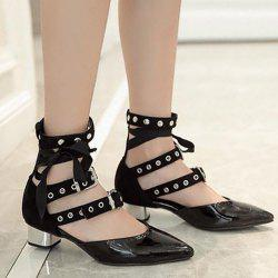 Buckle Straps Eyelets Pumps