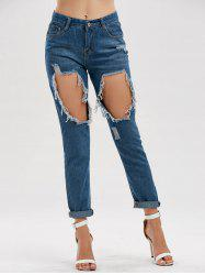Distressed Hole High Waisted Jeans