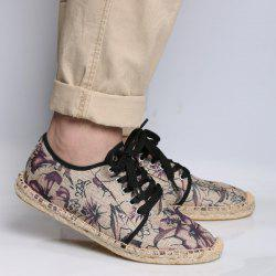 Flower Print Espadrilles Canvas Shoes