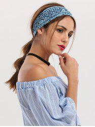 Hip-Pop Wide Geometrical Printed Elastic Headband