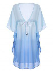 Chiffon Plus Size Ombre Sheer Cover-Up