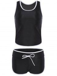 Sports Racerback Boyleg Tankini Set
