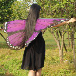 Strap Butterfly Wing Chiffon Cape Pashmina - CONCORD