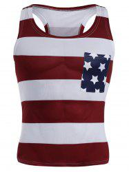 American Flag Patriotic Muscle Tank Top - Multicolore L