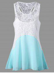 Sleeveless Lace Trim Dressy Blouse with Camisole