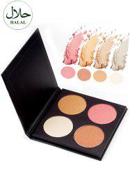 Halal 4 Colors Soft Mineral Highlighting Palette