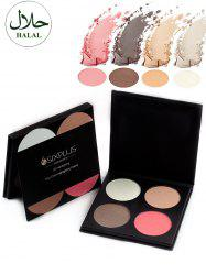Halal 4 Colors Highlighting Powder Palette