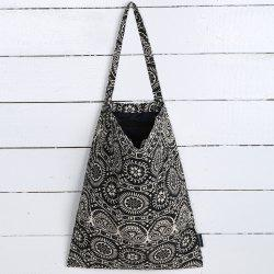 Canvas Ethnic Print Shopper Bag -