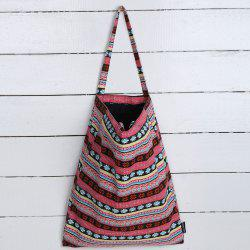 Canvas Ethnic Print Shopper Bag