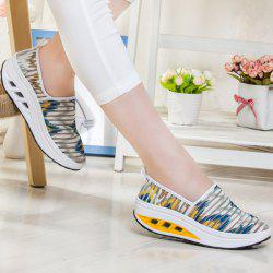Print Slip On Sheer Sneakers - WHITE AND YELLOW 39