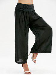 High Waisted Button Design Palazzo Pants