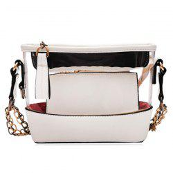 Transparent Crossbody Bag with Pouch Bag