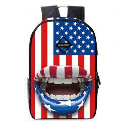 Mouth 3D Print Patriotic Backpack