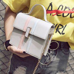 Contrast Stripe Chain Handbag