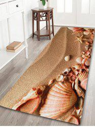 Beach Shell Coral Velvet Non-slip Bathroom Rug