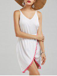 Halter Tassel Front Slit Backless Dress