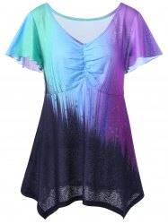 Ombre Plus Size Top - COLORMIX