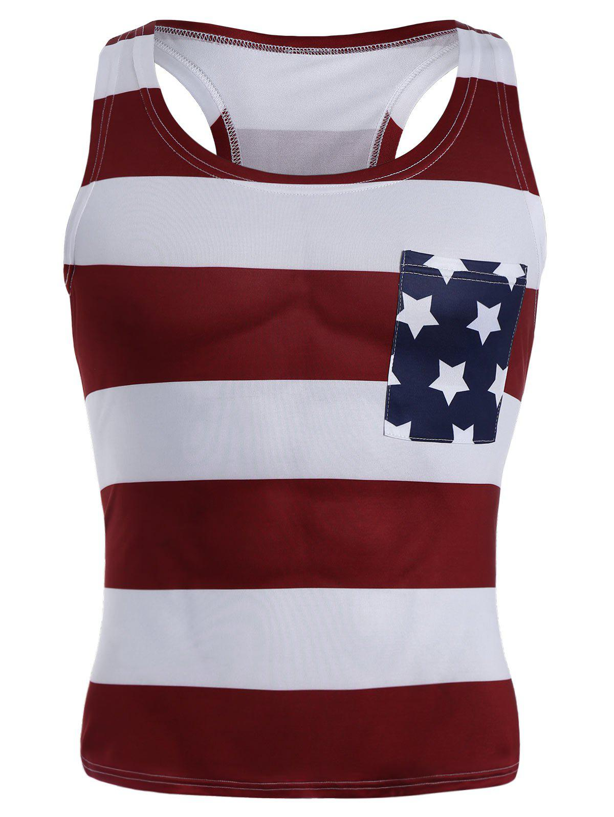 Outfit American Flag Patriotic Muscle Tank Top