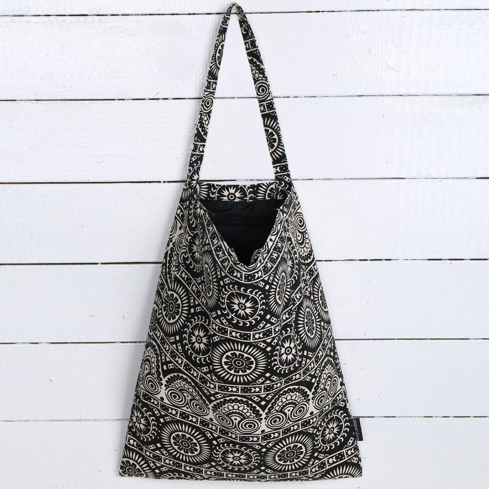 Fancy Canvas Ethnic Print Shopper Bag