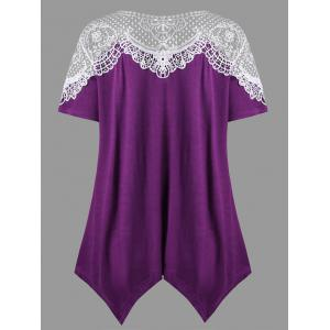 Hanky Hem Crochet Trim T-shirt -